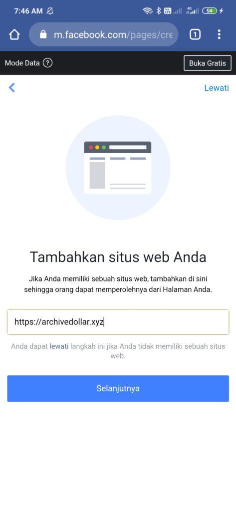cara menambahkan situs di halaman facebook