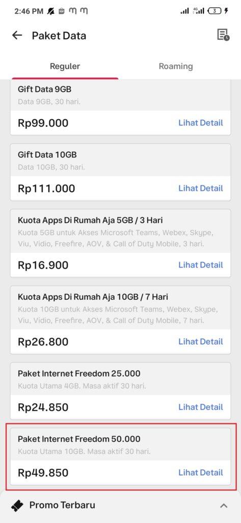 Cara Membeli Paket Data Internet dengan Gopay