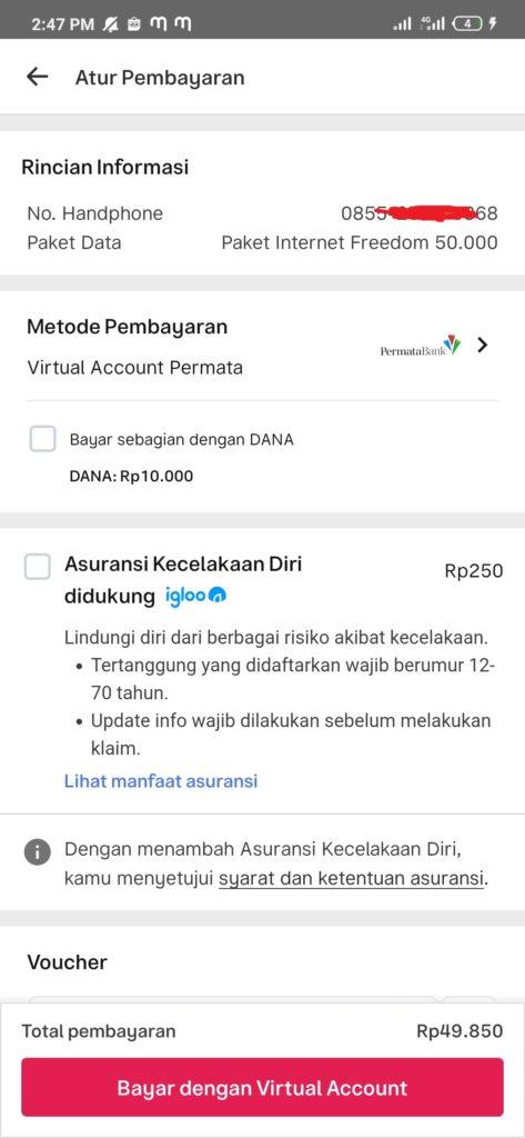 bayar dengan virtual account