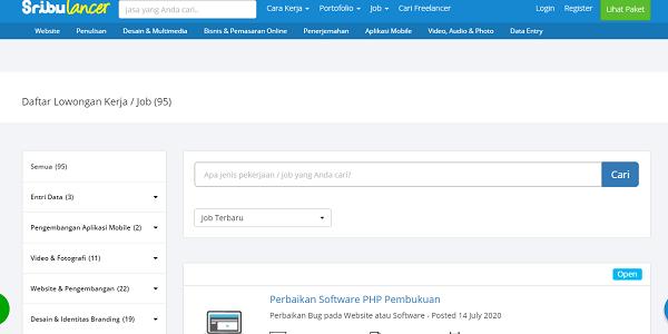 Sribulancer Situs lowongan kerja freelance