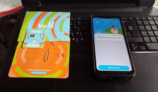 Unboxing Kartu Perdana serba digital dari Byu