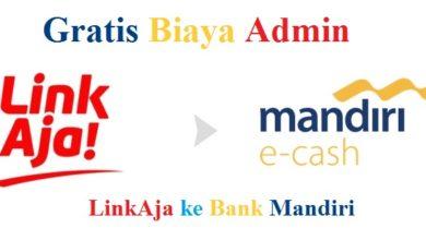 Cara Kirim Uang dari LinkAja ke Bank Mandiri Gratis Biaya Admin