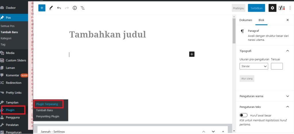 Cara Mengatasi Failed to initialize plugin jannah_extensions_mce_button