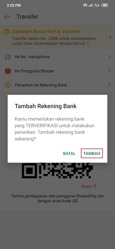 Cara Menambahkan Rekening Bank di Shopeepay
