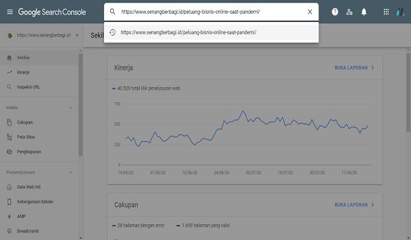 cara agar artikel cepet ke index google pencarian