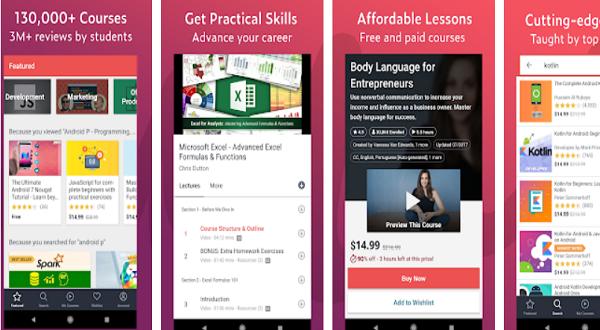 Aplikasi Udemy Belajar Online