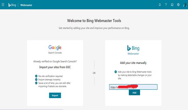 cara verifikasi Bing pada wordpress