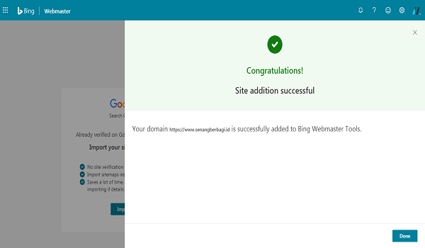 cara verifikasi Bing pada wordpress terbaru
