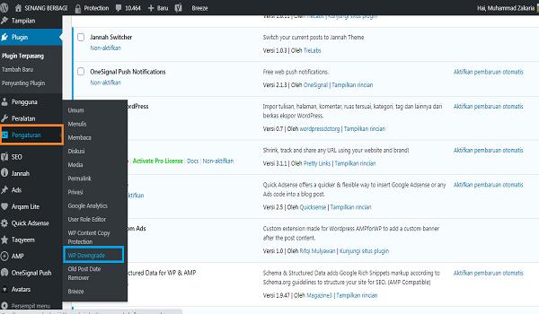 Cara mengaktifkan plugin wordpress