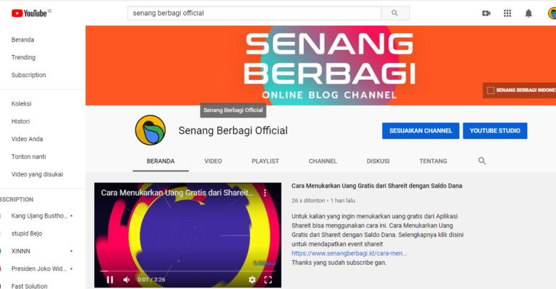 Mengganti Cuplikan Video Channel Youtube