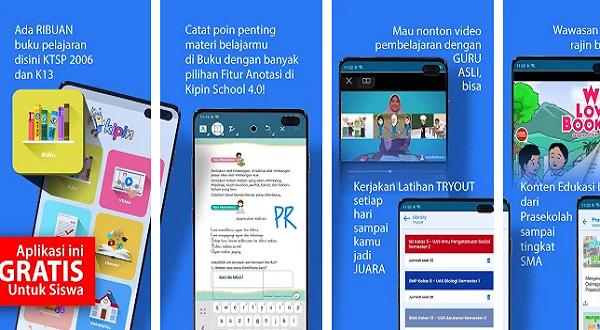 Aplikasi Kipin School aplikasi belajar online terbaik