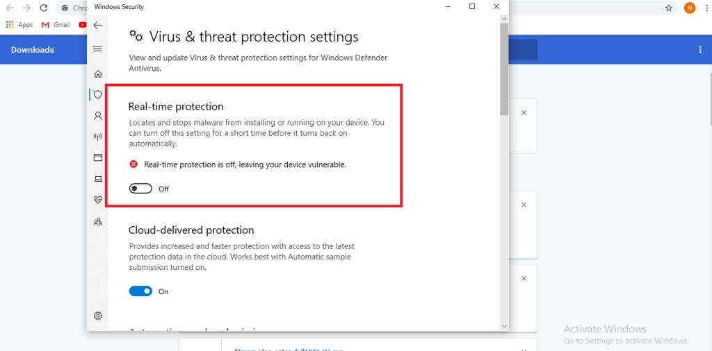 Cara mematikan antivirus saat aktivasi windows 10