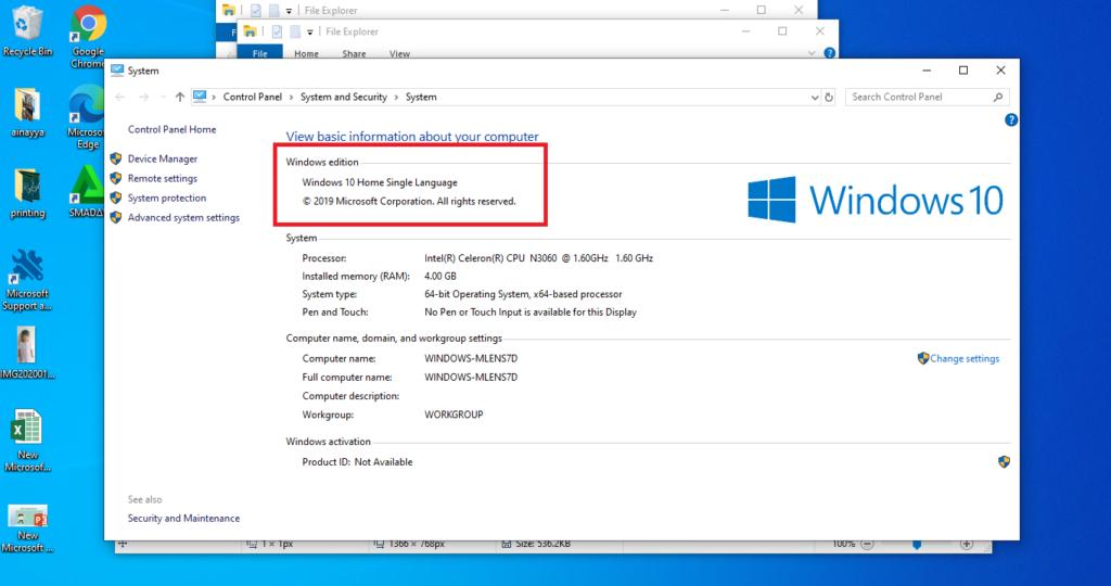 Cara Aktivasi Windows 10 Home Single Language