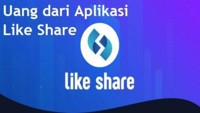 Cara Menghasilkan uang dari Aplikasi Like Share