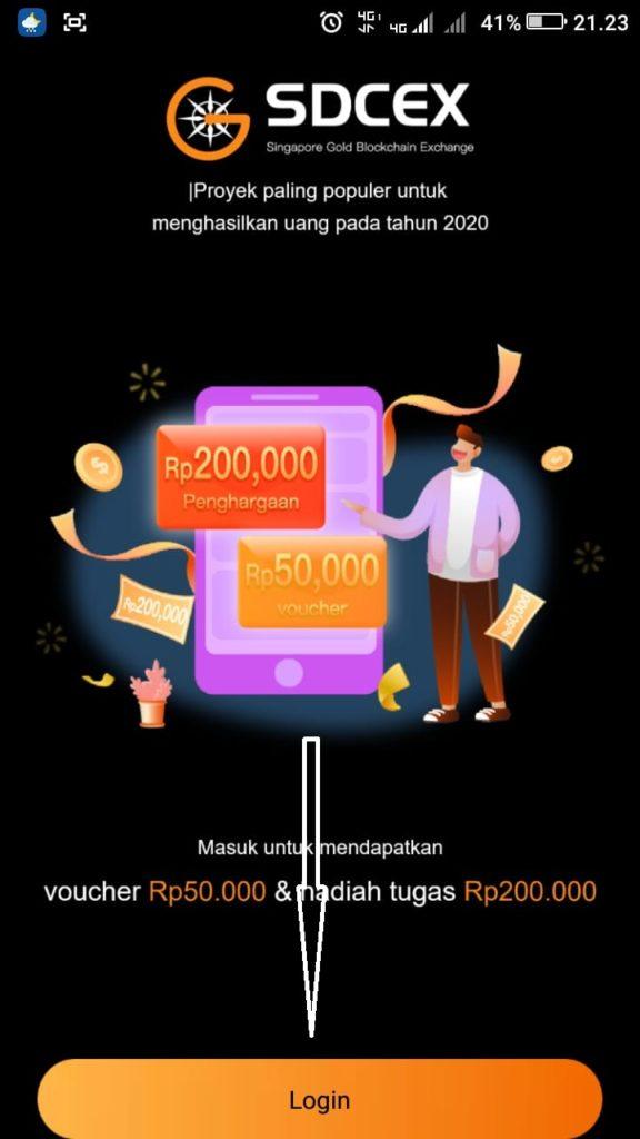 Cara Mendapatkan Uang 200 ribu dari Aplikasi SDCEX Android