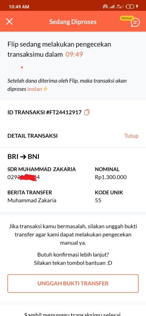 Kirim uang dari rekening bank bri ke bank bni dengan flip gratis biaya admin