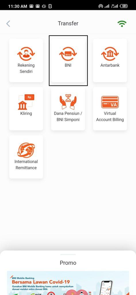cara kirim uang dari Mobile Banking BNI ke nomor rekening BNI juga gimana ya