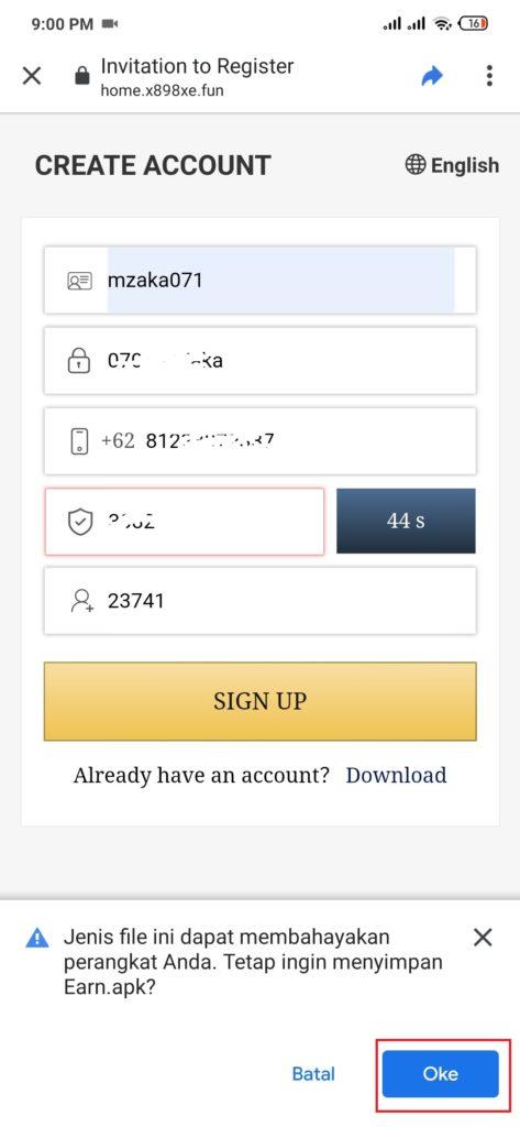 cara download aplikasi s-earn