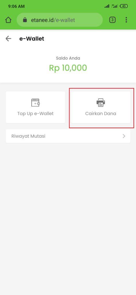 Cara Mencairkan Uang Gratis dari Aplikasi eTanee