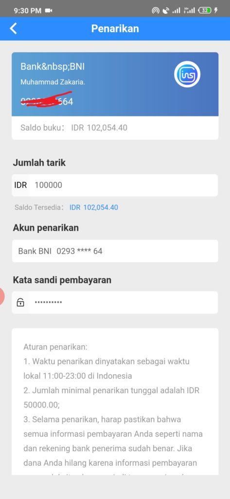 Cara Menarik Uang dari Aplikasi Goins Android