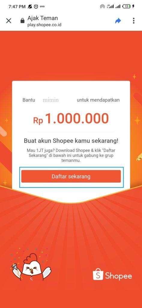 Cara Mendapatkan Saldo ShopeePay Gratis hingga 1 juta