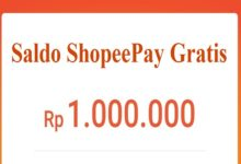 Cara Mendapatkan shopeepay gratis