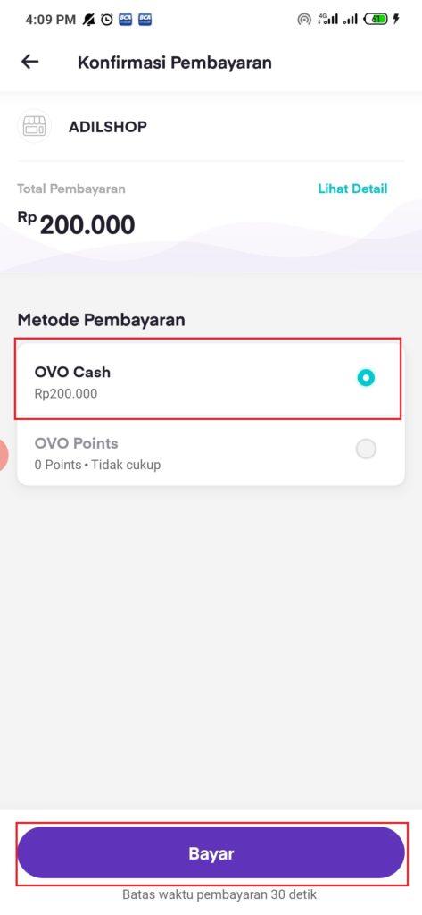 pilih metode pembayaran
