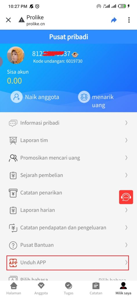 cara download aplikasi Pro Like