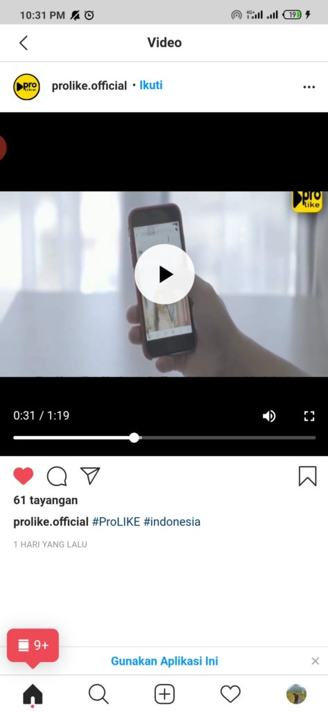 cara mengerjakan like video