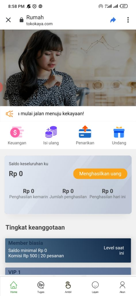 Review Aplikasi Toko Kaya Android Apakah SCAM ?