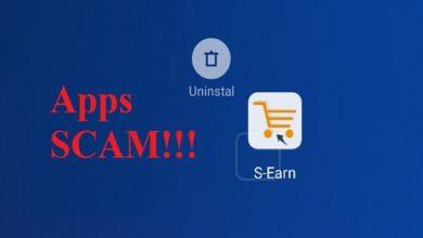aplikasi S-Earn Scam