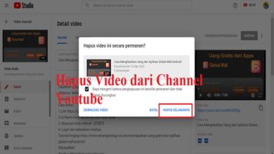 Cara Menghapus Video dari Channel Youtube
