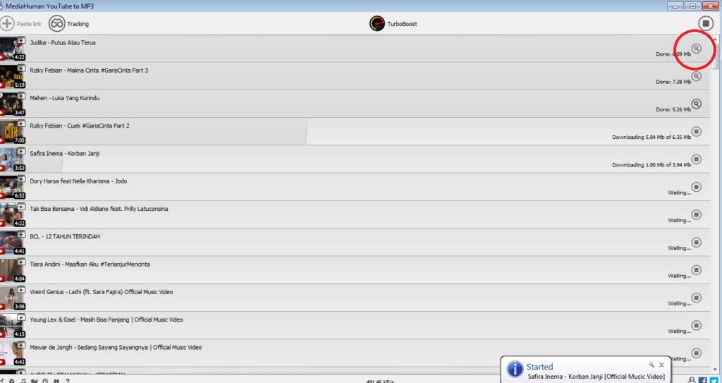 Cara Membuka File Mp3 hasil Download Semua Lagu dari Youtube