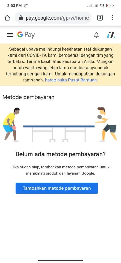 metode pembayaran dari google playstore