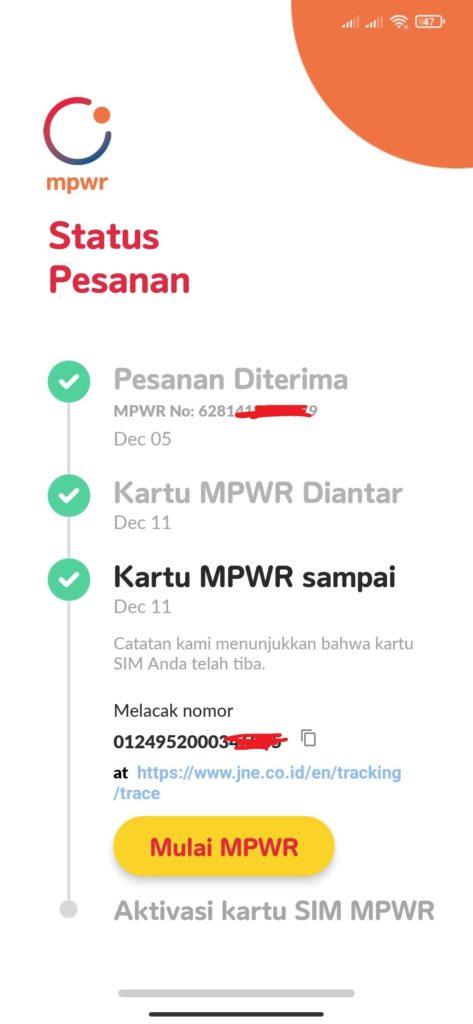 Cara Aktivasi Kartu  MPWR dari Indosat