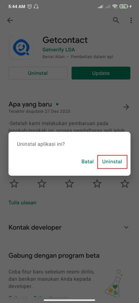 berhasil menghapus aplikasi berlangganan