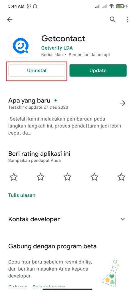 cara uninstal aplikasi berlangganan