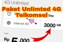Cara Mengaktifkan Paket Ceria Telkomsel Unlimited 3000 GB
