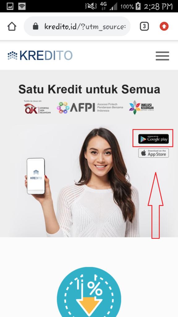cara mendapatkan uang dari aplikasi kredito
