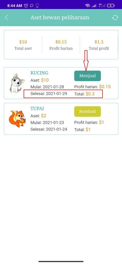 Cara Menjual Hewan Peliharaan dari Aplikasi Party Zoo