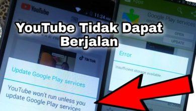 Cara Mengatasi Aplikasi Youtube Android Tidak dapat berjalan