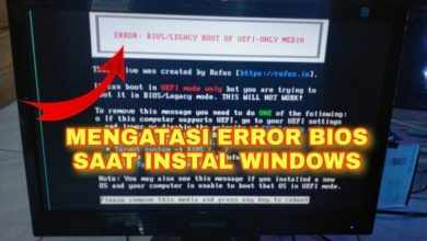 Cara Mengatasi Error Bios Legacy Boot Of Uefi Only Media