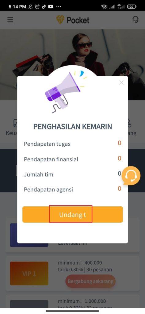 Cara Menggunakan Aplikasi Money Game Pocket Android