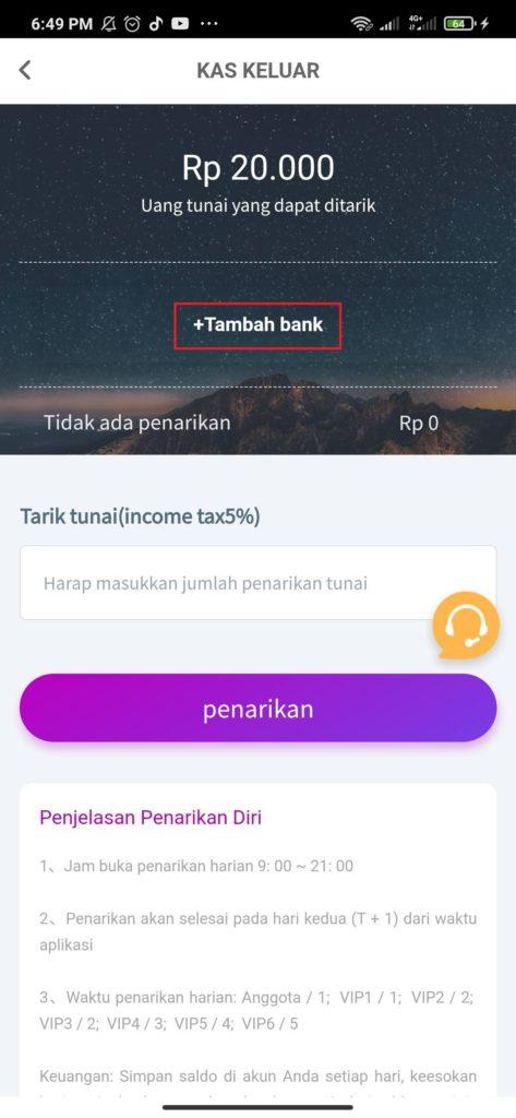 Cara Melakukan Penarikan Aplikasi Money Game Pocket Android