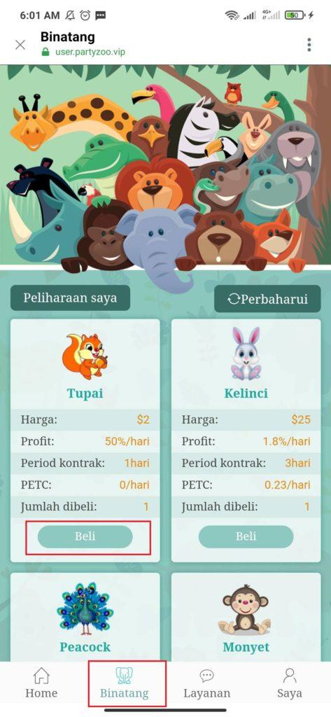 Cara Mengerjakan Misi dari Aplikasi Party Zoo