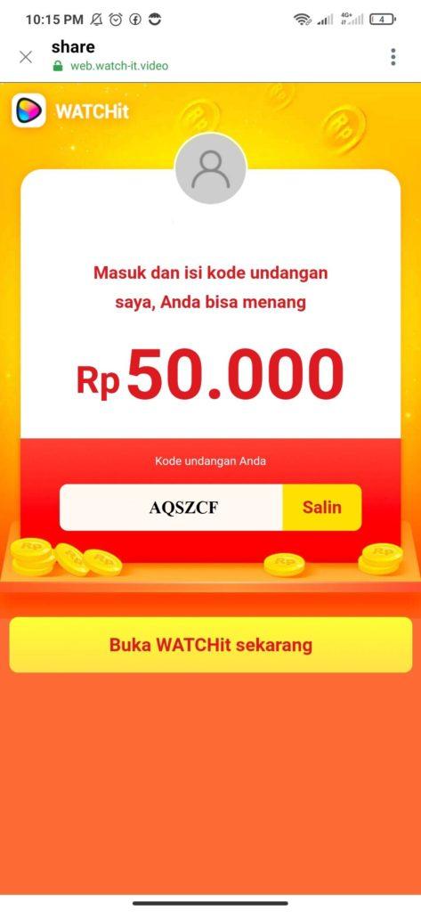 Cara Mendapatkan Saldo Dana Gratis dari Aplikasi WATCHit
