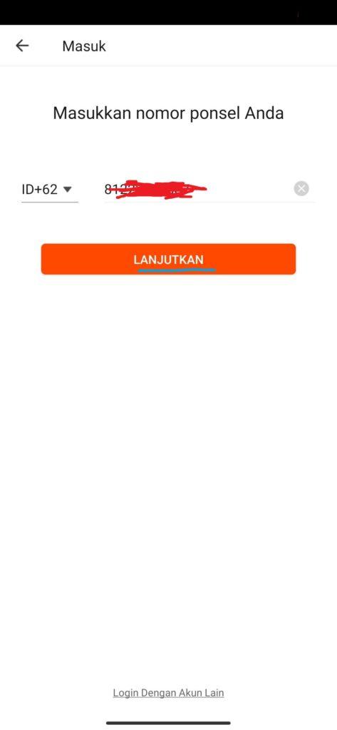 cara verifikasi nomor hp dari aplikasi WATCHit