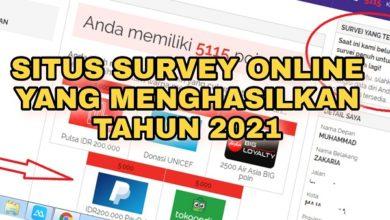 Situs Survey Online Yang Menghasilkan Tahun 2021