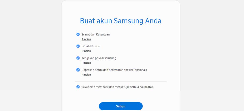 Cara Mudah Membuat Akun Samsung dari Situs Resmi Samsung