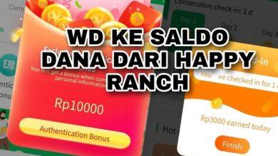 cara mendapatkan saldo dana gratis dari aplikasi happy ranch